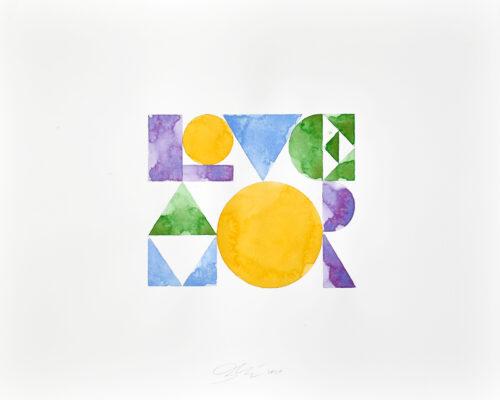Love/Amor painting by Ben Loiz