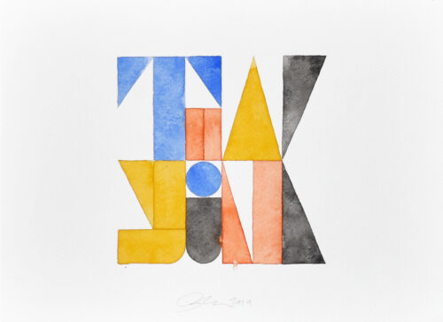 Thank you watercolor painting by Ben Loiz